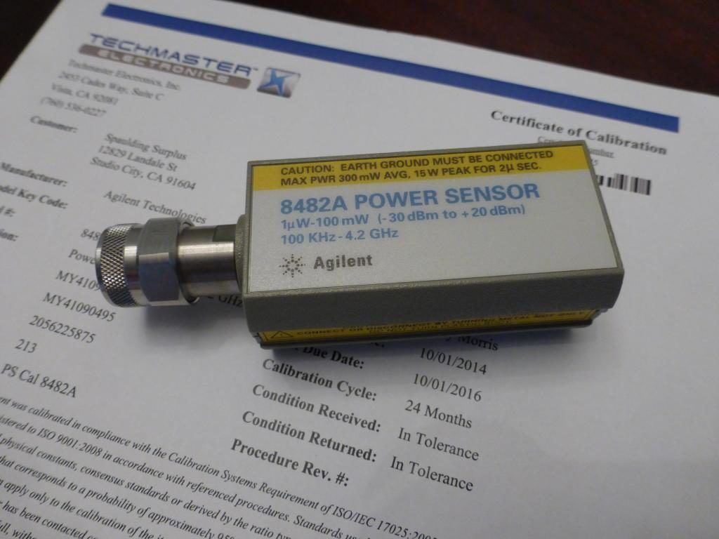 Power sensor 8482A 1uW do 100 mW