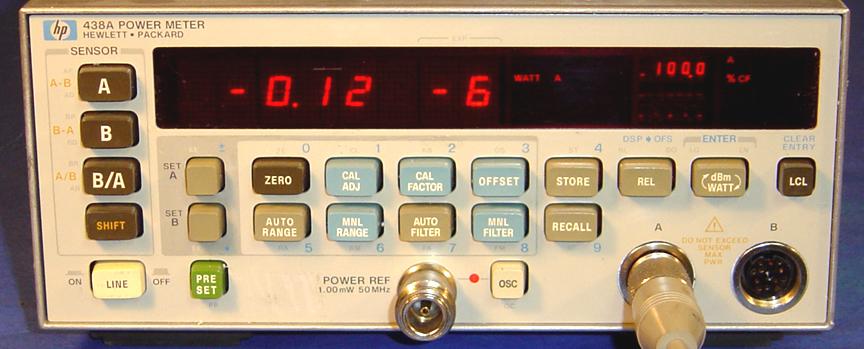 Mikrofalowy miernik mocy w.cz. HP-438A